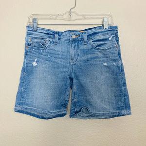 Pilcro Anthropologie Blue Distressed Denim Shorts